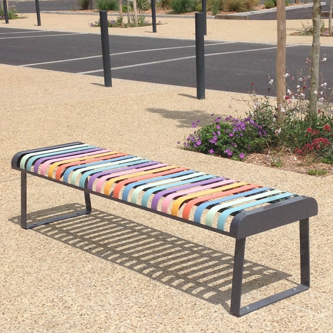 ATECH-PASTEL-Backless-bench