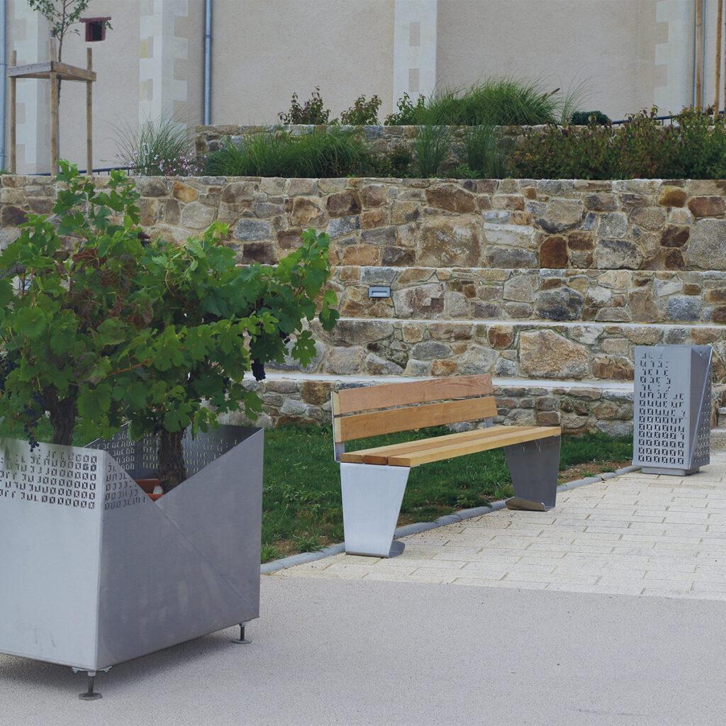 ATECH-public-square-design-street-furniture-steel-origami